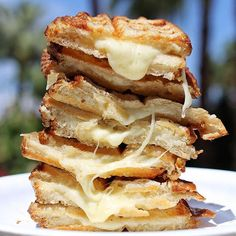 #tbt to eating stacks of homemade waffled grilled cheese while lounging by palm trees 🧀🌴 #IndulgentEats