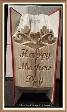Happy Mothers Day. Book Folding Pattern. by JHBookFoldPatterns on Etsy