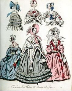 The World of Fashion and Continental Feuilletons 1838 Plate 23 by CharmaineZoe, via Flickr