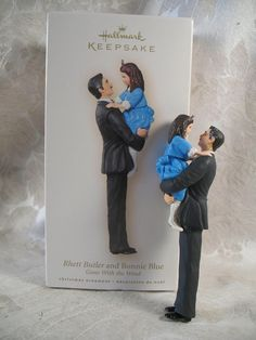 Hallmark 2007 Rhett Butler and Bonnie Blue ornament Hallmark Keepsake Ornaments, Xmas Ornaments, Tomorrow Is Another Day, Actrices Hollywood, Clark Gable, My Wish List, Gone With The Wind, Pretty Dolls, Classic Movies