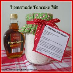 Make ahead pancake mix!