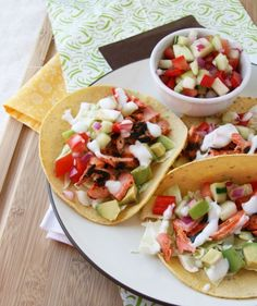 They sound fabulously tasty, but a little labor intensive for my cooking ability. Pinning just in case I feel especially chef-like at some point. Great Recipes, Favorite Recipes, Healthy Recipes, Savoury Recipes, Seafood Recipes, Mexican Food Recipes, Seafood Dishes, Salmon Tacos, Party Dishes