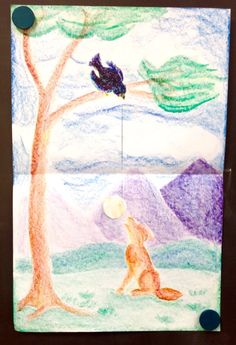 The Crow and the Fox | Ms Sherman (moveable picture inspiration)
