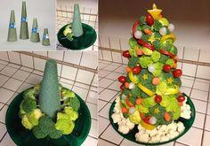 Veggies Christmas Tree DIY Tutorial For Table Top Centerpiece