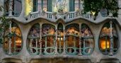Antonio Gaudi's Casa Batllo. Barcelona, Spain