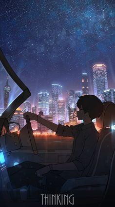 Anime Backgrounds Wallpapers, Anime Scenery Wallpaper, Animes Wallpapers, Cute Wallpapers, Sky Anime, Dark Anime, Anime City, Boys Wallpaper, Galaxy Wallpaper
