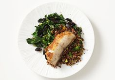 Black cod with swiss chard, olives and lemon by bonappetit #Cod #Cleanse