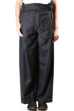 DANIELA GREGIS - Fine Wool Flannel Wide Trousers