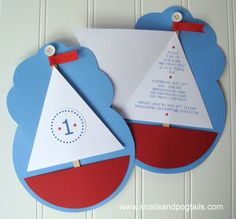 Sailboat for kids invitation
