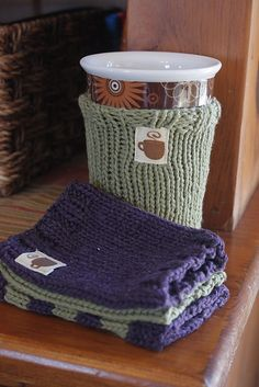 Ravelry: mug hug pattern by Rebecca Gunderson