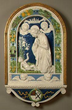 Andrea Della Robbia Inconorazione della Vergine
