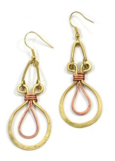 Ankh Recycled Wire Earrings. Handmade in #India. #FairTrade cometogethertrading.com