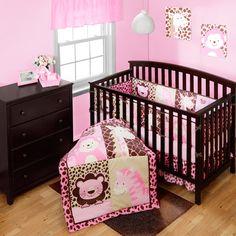 Nursery Bedding Product   Baby Boom Jungle Friends 4-piece Crib Bedding Set