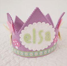 Dragonfly Birthday Crown for girls - Waldorf Felt Crown - Woodland Birthday Party via Etsy