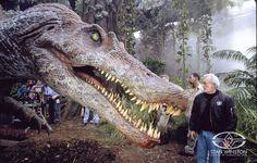 Stan Winston on Set of Jurassic Park.