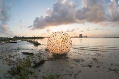 plastic recycled art human debris