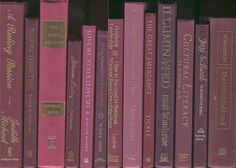Books By The Foot, Lot of 10-12 hardcover books in shades of burgundy, fuschia, maroon, wine, Instant Library, Staging, book lot, book set by CalhounBookStore on Etsy