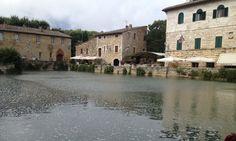 Bagni Vignone. Tuscany Italy Roman thermal bath