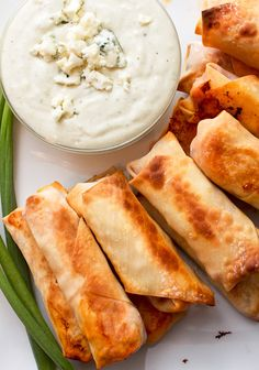 Baked Buffalo Chicken Egg Rolls