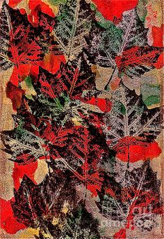Autumn Leaves Mixed Media by Bellesouth Studio - Autumn Leaves Fine Art Prints and Posters for Sale