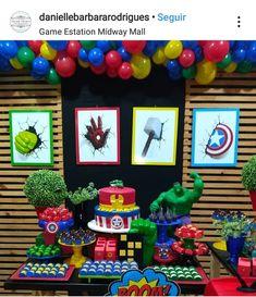 1st Birthday Boy Themes, Superman Birthday Party, Avengers Birthday, Kids Party Themes, Boy Birthday Parties, Birthday Party Decorations, Hulk Party, Power Rangers, Bernardo