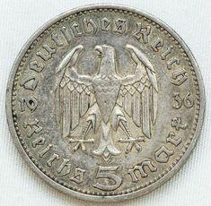 Numismática ALEMANHA 1935A 5 MARK - MOEDA DE PRATA SO..