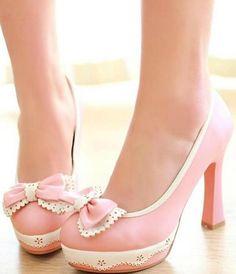 A Fresh Bowknot High Heels - http://www.luulla.com/product/412078/a-fresh-bowknot-high-heels
