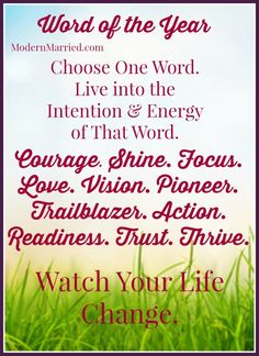 Word of the Year: How to Choose One Word to Turbo-Charge Your Year - click the pin to read more.   Intention, New Year's Resolution