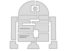 R2-D2 pumpkin carving pattern for Halloween = one happy 6-year-old. :)