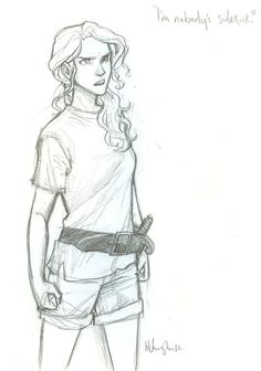 """This is Annabeth,"" Jason said. ""Uh, normally she doesn't judo-flip people.""   Mark of Athena, Rick Riordan  by: Burdge"
