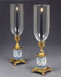 A pair of George III candle lights by Turner and Company Ca1790 England.