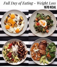 Who says you have to eat less to lose weight?! @healthymealsberlin  - See our TOOL and GUIDES for every goal you have! [in profile link ] - Share your images by tagging us or using #MealPlanMagic - #mealplan #mealprep #whole30 #mealprepping #preplife #cleaneating #mealplans #cleaneats #foodporn #transformation #mealprepsunday #mealprepmonday #eatclean #mealprepsociety #macros #foodprep #fitfoodie #eattherainbow #bodymotivation #macrosmatter #fatloss #weightlosstransformation #healthyrecipes… Clean Eating, Healthy Eating, Spicy Steak, 1500 Calorie Meal Plan, Oatmeal With Fruit, Salad Recipes, Healthy Recipes, Superfood Salad