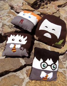 Harry Potter Pillows! - Rubeus Hagrid is by far the cutest one. And the most adorable I've ever seen. As a pillow.     $30.00, via Etsy.