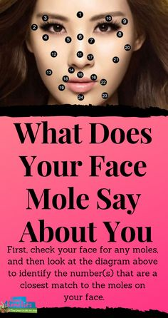 First, check your face for any moles, and then look at the diagram above to identify the number(s) that are a closest match to the moles on your face. Moles On Face, Skin Moles, Natural Home Remedies, Herbal Remedies, Health Remedies, Cancerous Moles, Mole Removal, Skin Growths, Mole