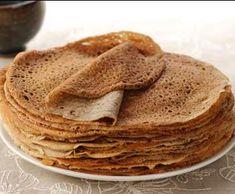 Light buckwheat pancakes - Light recipes - Main course and Recipe - Weight Watchers light buckwheat pancakes, delicious buckwheat flour pancakes, ideal for all your sa - Crepes And Waffles, Buckwheat Pancakes, Gourmet Recipes, Dessert Recipes, Cooking Recipes, Desserts, Healthy Recipes, Sin Gluten, Crepe Recipes