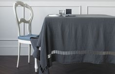 SOCIETY Jour - embroidered linen table cloth