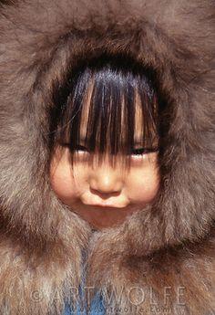 Inuit girl, Katovik, Barter Island, Alaska (Artwolf)