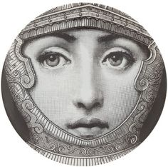 """Plate 95 from Piero Fornasetti's """"Theme and Variations"""" series"""