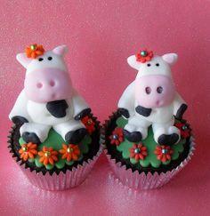 Schattige koeiencupcakes  #Cake #Cupcake #Koe #Zoet