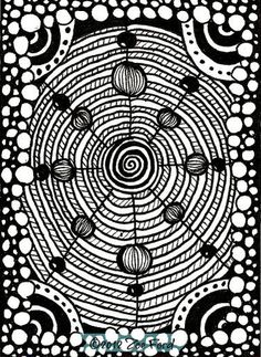 SALE  ACEO Original Spiralling Art Card by TopFloorTreasures, $4.00