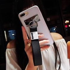 Korean Style Soft PU Phone Case With Hand Strap For iphone X in Phones & Accessories, Mobile Accessories, Cases, Covers & Skins Korean Fashion, Women's Fashion, Cool Iphone 6 Cases, Kawaii Things, Future Goals, Mobile Accessories, Korean Style, Loft, Apple