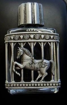 SALE Carousel Horse Perfume Bottle Jonette vintage by dollherup