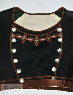 Folk Costume, Costumes, Norway, Vest, Embroidery, Dresses, Fashion, Brown, Vestidos