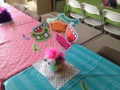 Ellie's 1st Birthday Monster Bash | CatchMyParty.com