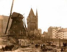 um 1889 Berlin - Wasserturm und Windmühle auf dem Tempelhofer Berg (Foto: F. A. Schwartz).