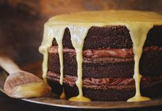 Bourbon Chocolate Tipsy Cake is a bakers dream. decadent chocolate and flavorful bourbon come together in a masterpiece! Bourbon Cake, Chocolate Bourbon, Decadent Chocolate, Chocolate Cake, Chocolate Frosting, Best Cake Recipes, Sweet Recipes, Dessert Recipes, Favorite Recipes