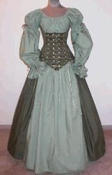 Irish Lass Wench Dress - Perhaps I could really surprise my husband and wear this for St. Patty's Day! $204.99 #renaissance #wench #irish http://www.pearsonsrenaissanceshoppe.com/irish-lass-wench.html