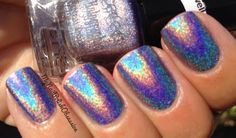 My Nail Polish Obsession: Perfect Holographic Nail Polish Mermaid Nail Polish, Mermaid Nails, Mermaid Mermaid, Hair And Nails, My Nails, Holographic Nail Polish, Nail Polish Collection, Pedi, How To Do Nails
