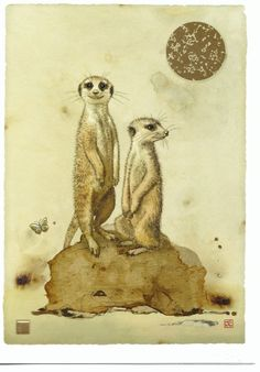 Doesn't everyone like meercats? Again from Bug Art.