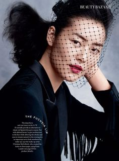 "Duchess Dior: ""Evening Star"" Liu Wen for Harper's Bazaar UK December 2015"